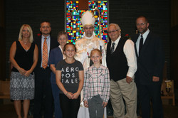 Bishop Joseph with his Family