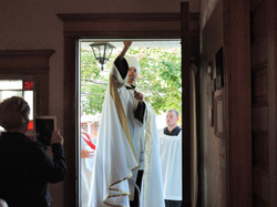 Anointing the Entrance