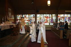 Returning from blessing the Faithful