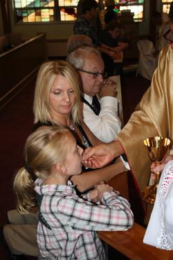 Bp. Joseph niece received Communion