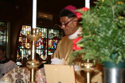 Metropolitan at the Altar in prayer