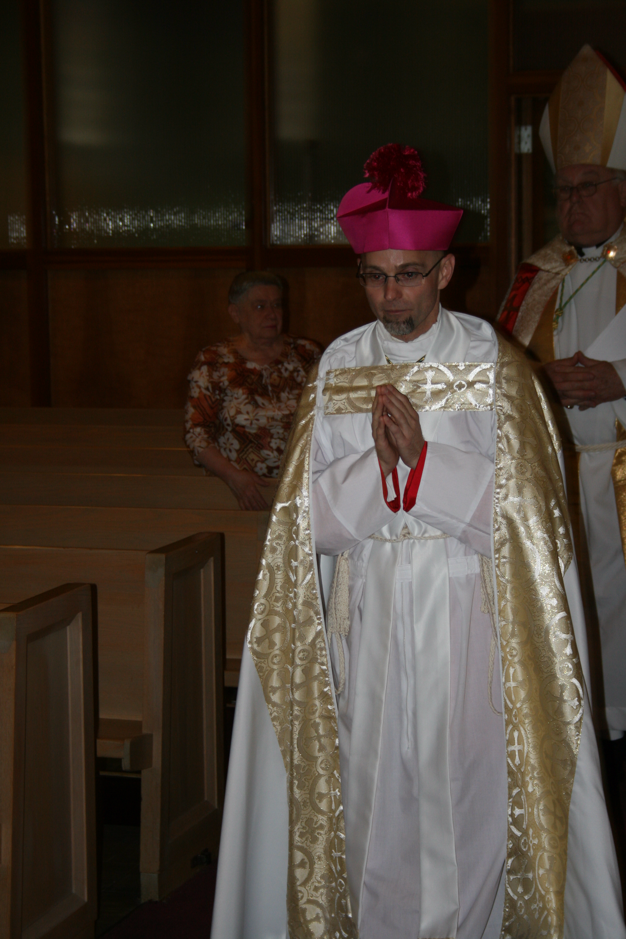 The Bishop-elect in procession