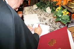 Bishop Fucci, BOHC signing vows