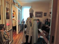 Bishop Joseph incensing....