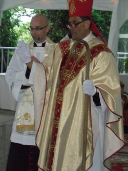 Bishop Victor blessing