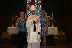 Bishop Joseph with Sue and Irene