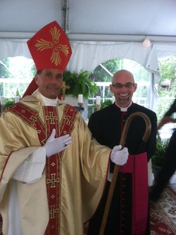 Bishop Cianca and Father Thomas