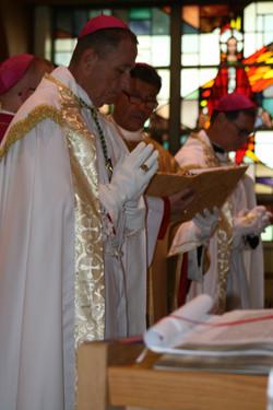 The Metropolitan Bishop praying