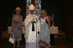 Bishop Joseph with Glenna & Michelle