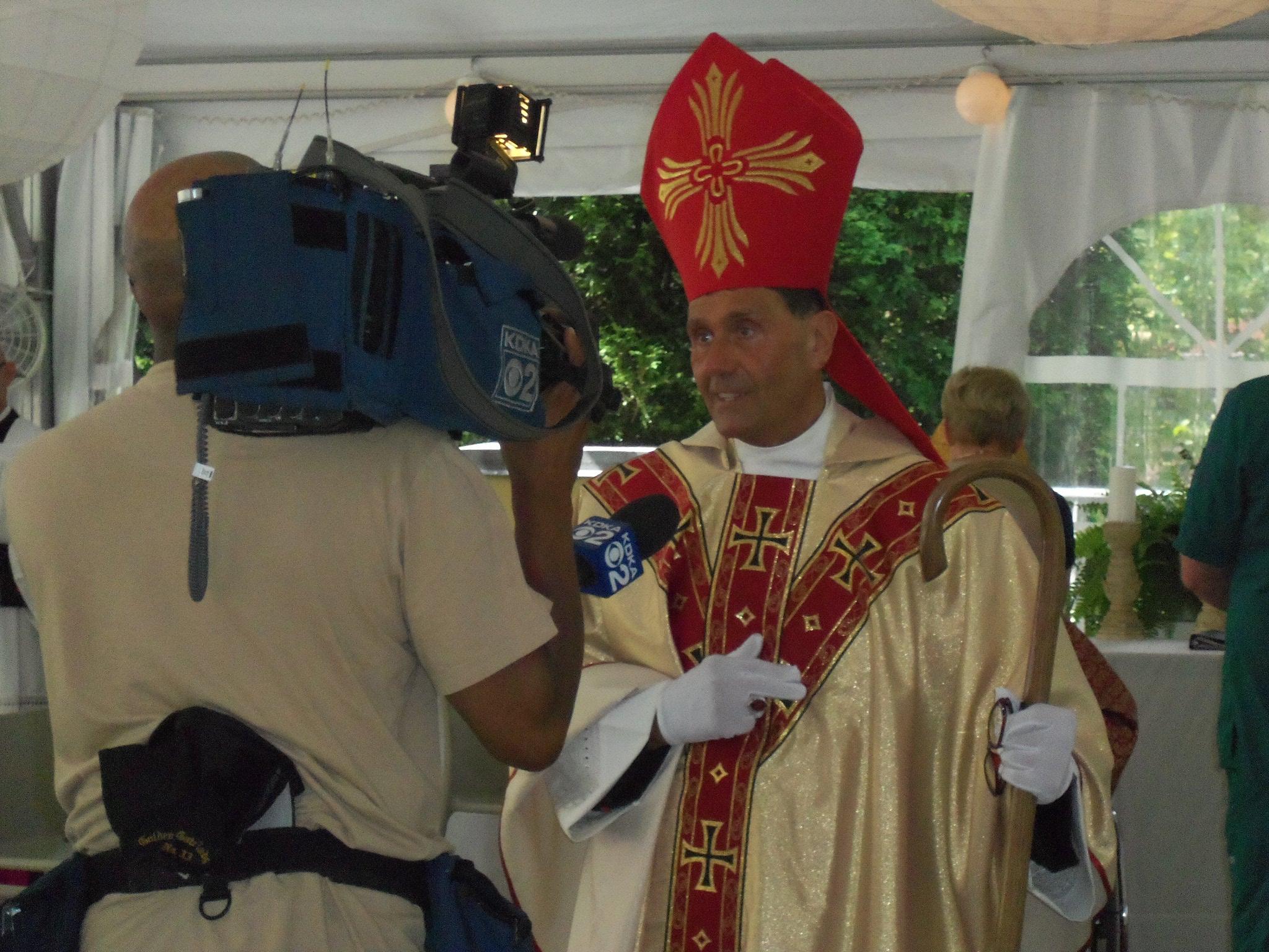 Bishop Victor and the Media.JPG
