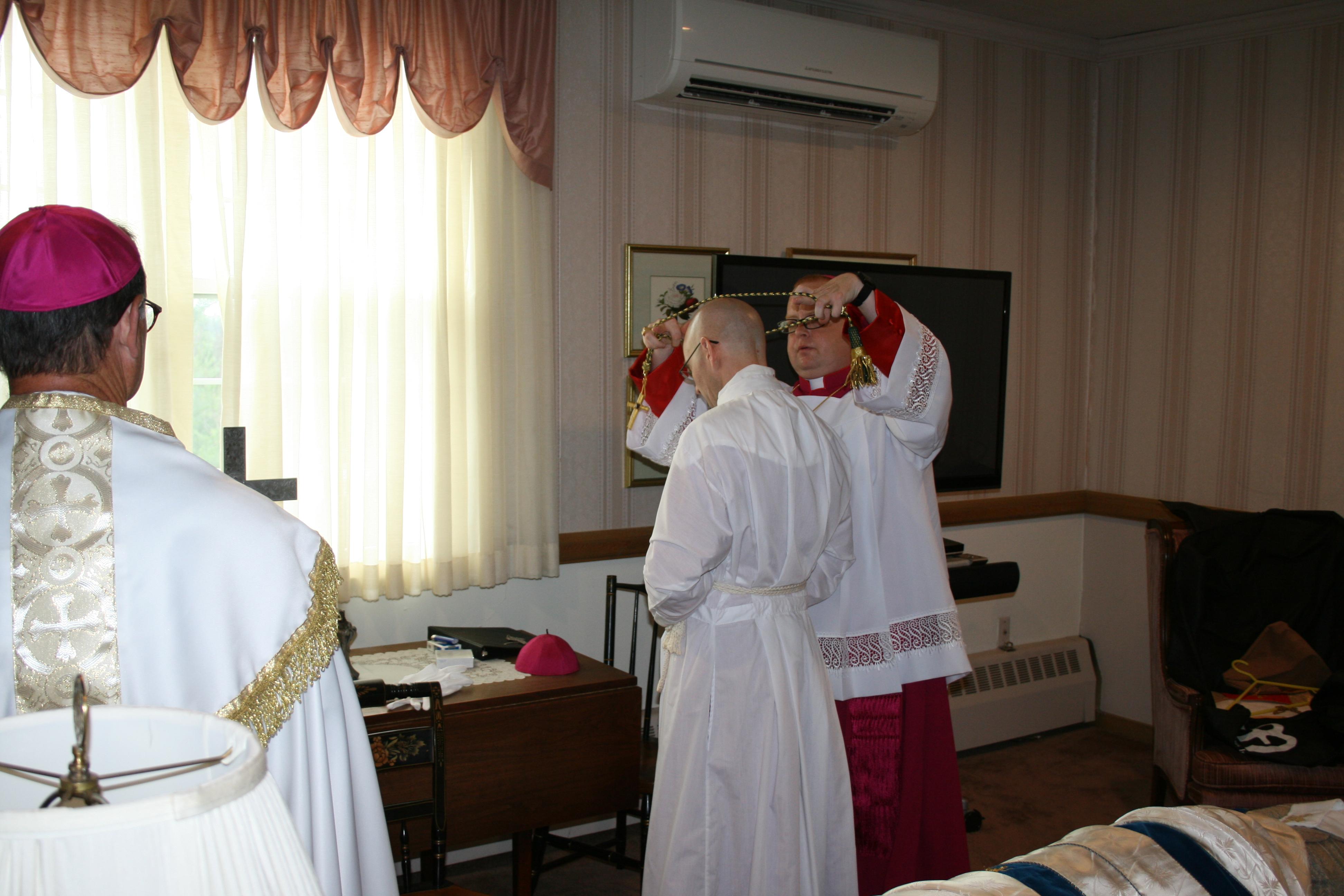 Bishop-elect vesting