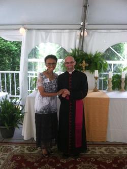 Mrs. Joy Sato and Father Thom