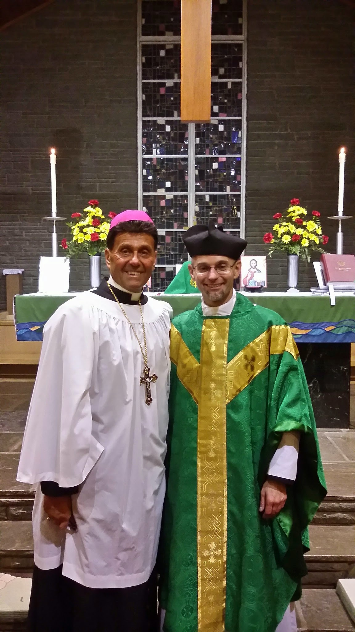 Bishop Victor and Father Joseph