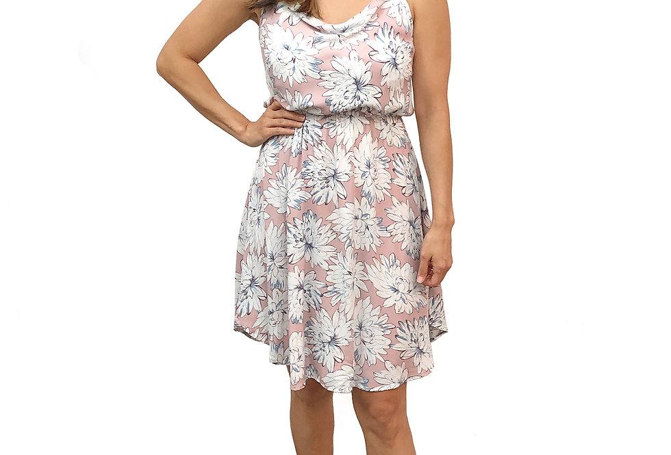 Chrysanthemum Cowl Dress