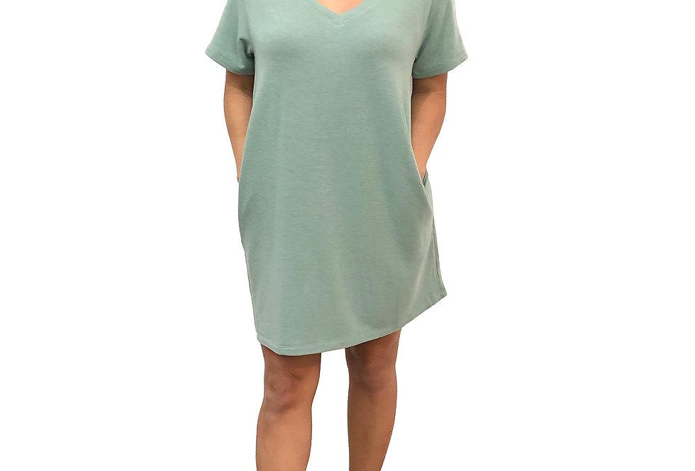 Side Pocket Shirt Dress
