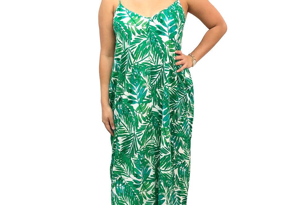 Green Leaf Maxi Dress