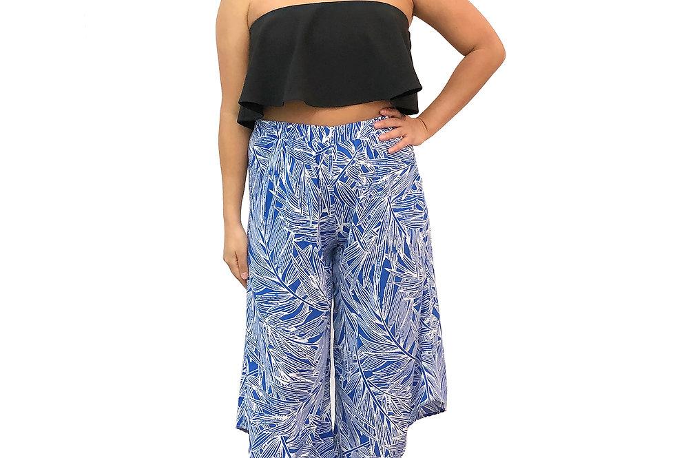 Diagonal Palm Pants