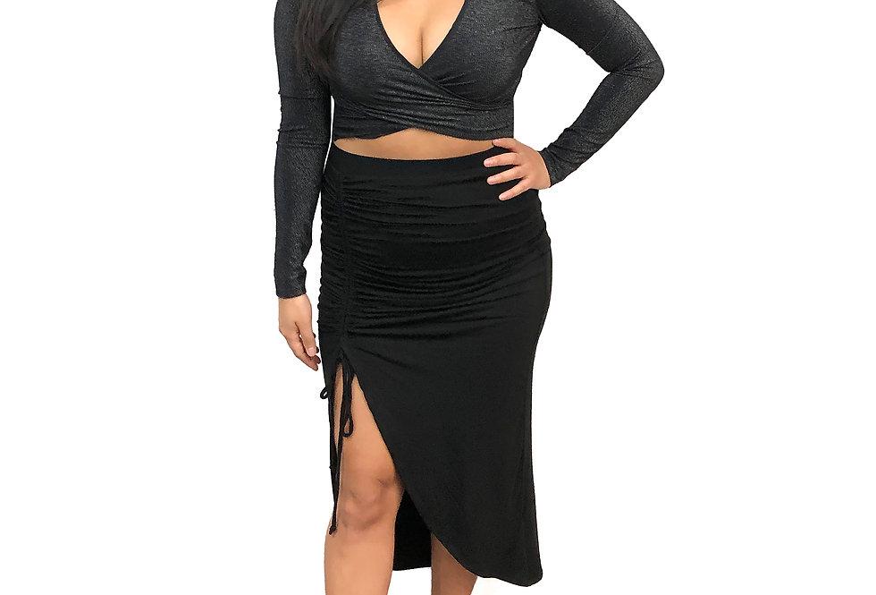 Side Ruche Skirt