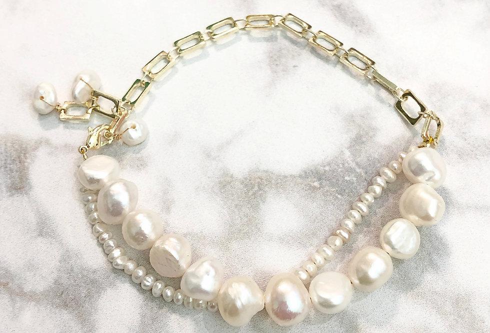 18K Pearl Strand Bracelet