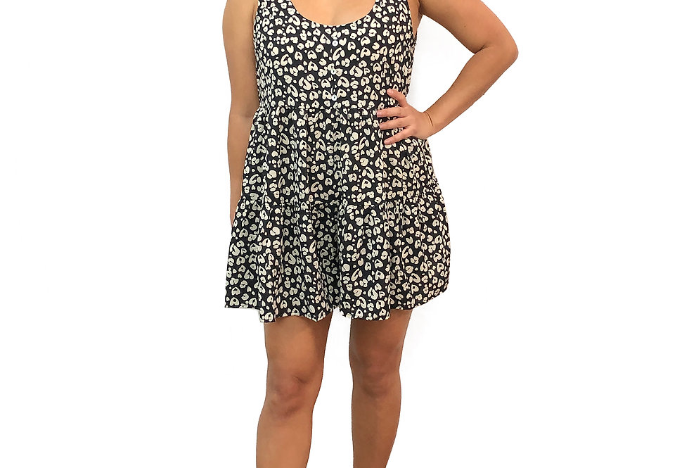Heart Leopard Romper