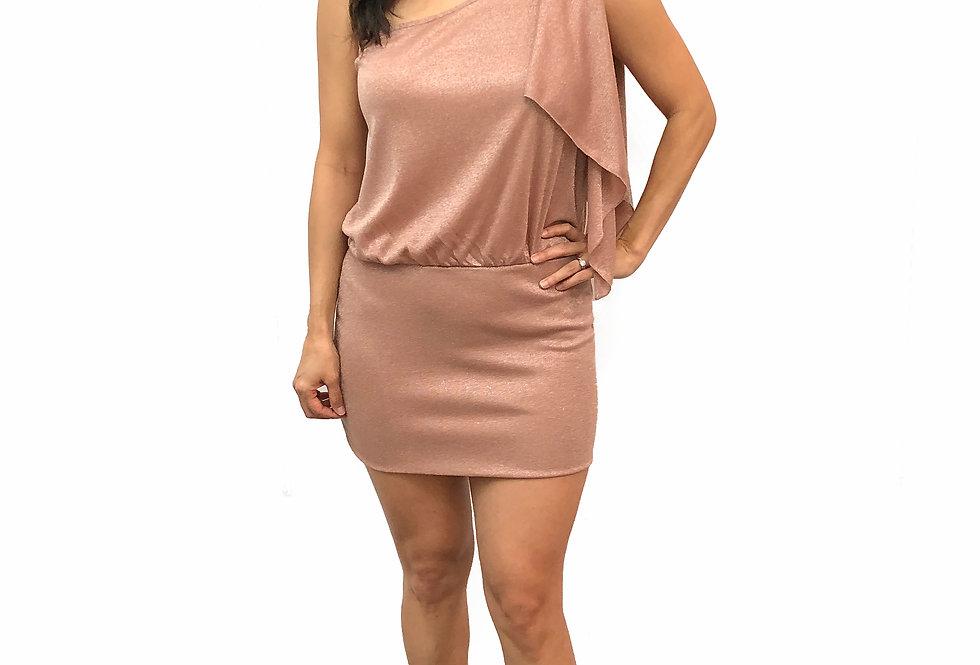 Metallic Cascade Dress