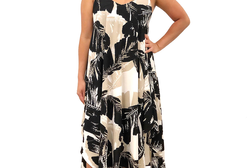 Palm Handkerchief Dress
