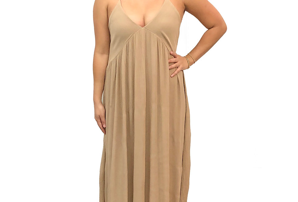 Gauze Side Slit Dress