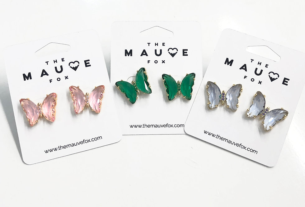 Butterfly Stone Earrings