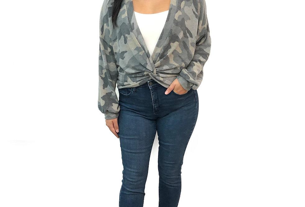 Camouflage Twist Sweater