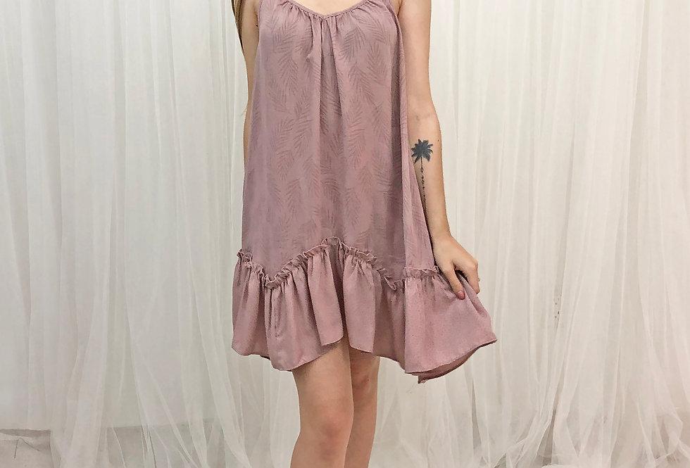Mauve Palm Dress