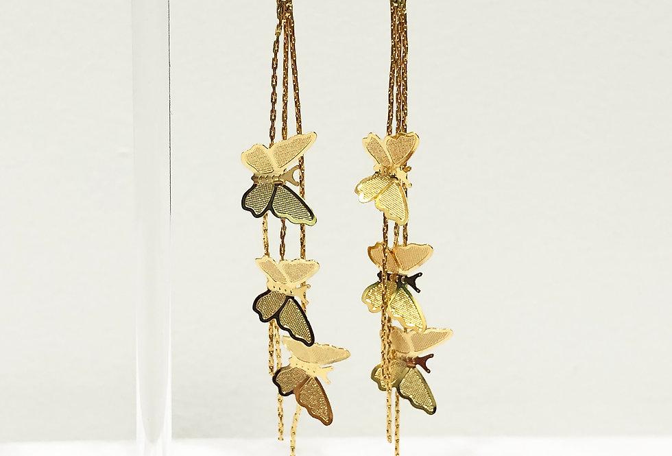 CZ Butterfly Strand Earrings