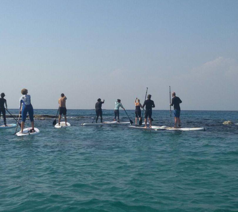Paddling in Mediterranean sea