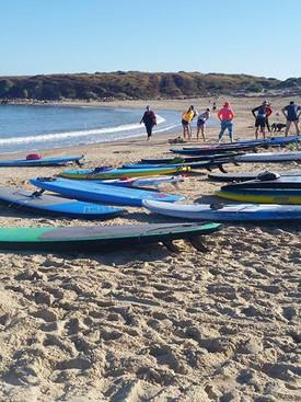 Before SUP paddling