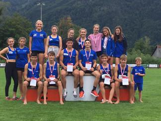 6 x Gold, 12 x Silber und 9 x Bronze für den LAC Amateure Steyr in Ebensee bei den  U16 und U20 Land