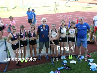 3 x 800m Gold für Mädchen U16 Staffel vom LAC Amateure Steyr!
