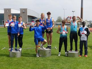 1 x Gold, 1 x Silber, 2 x Bronze und 1 x Rang 4 bei den ÖO Landesmeisterschaften für Langstaffeln