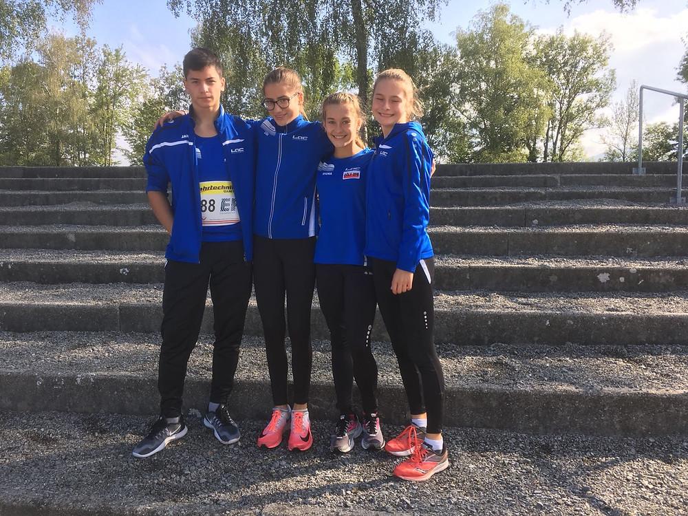 von links Leon Glavas, Lisa Gruber, Viona Knoll und Veronika Schwarz