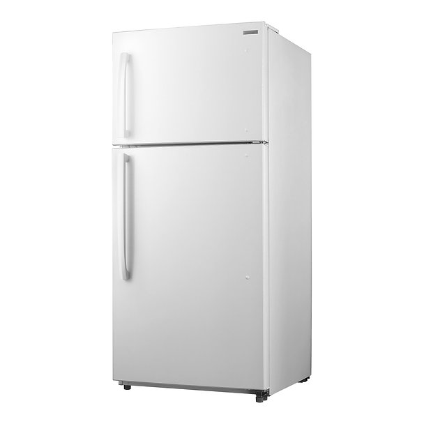 Top Mount Two Door Refrigerator Isolated