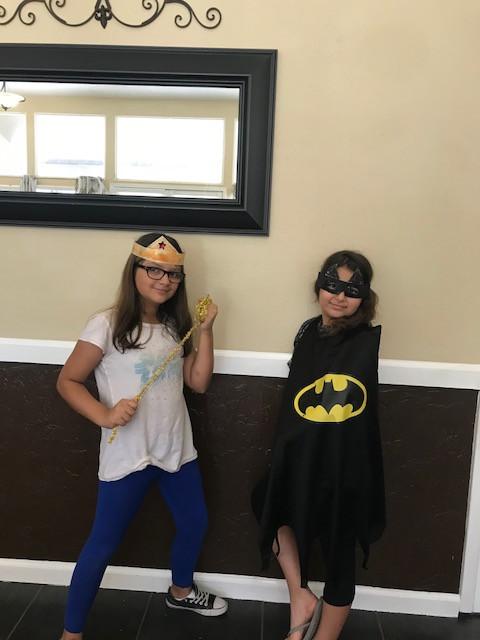 BatGirl and Wonder Woman at Super Lunch