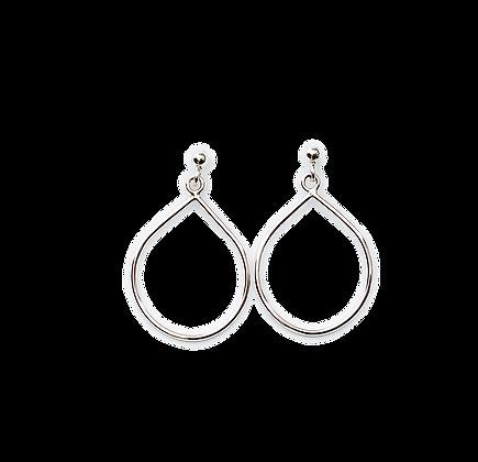 City bold white earring