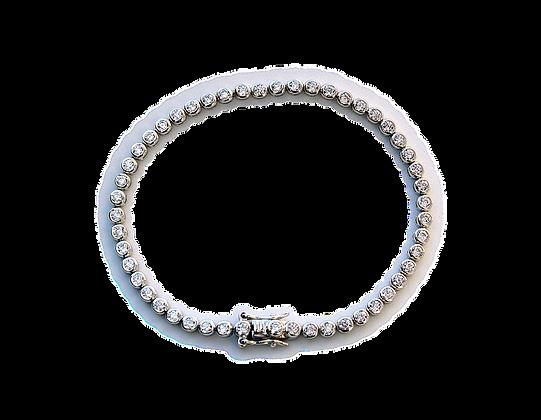 Sølvarmbånd med stener