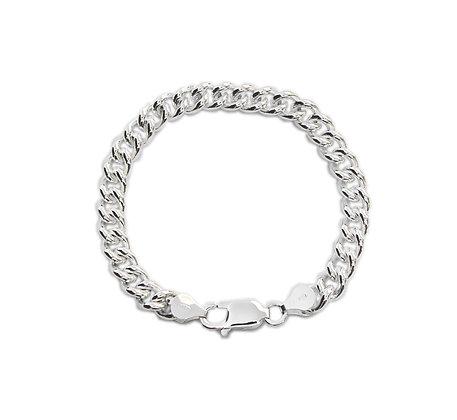 Panser-armbånd i sølv