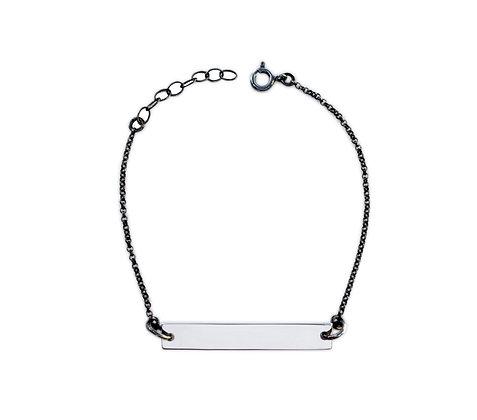 I.D armbånd i sølv