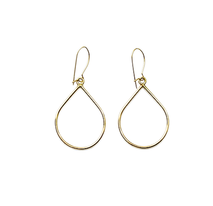 City bold gold earring