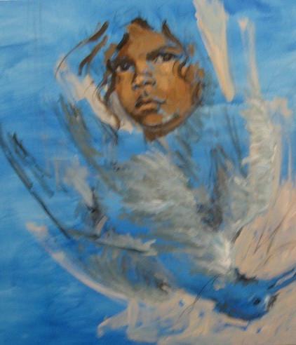 Aboriginal Boy & Dead Bird