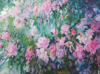 62_Secret Gardin-Jardin Secret (Diptych