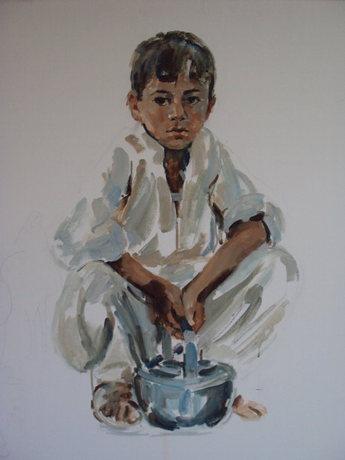Young Boy on Roadside