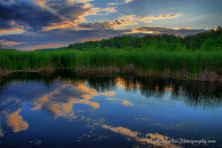 Sunset Reflections In The Marsh
