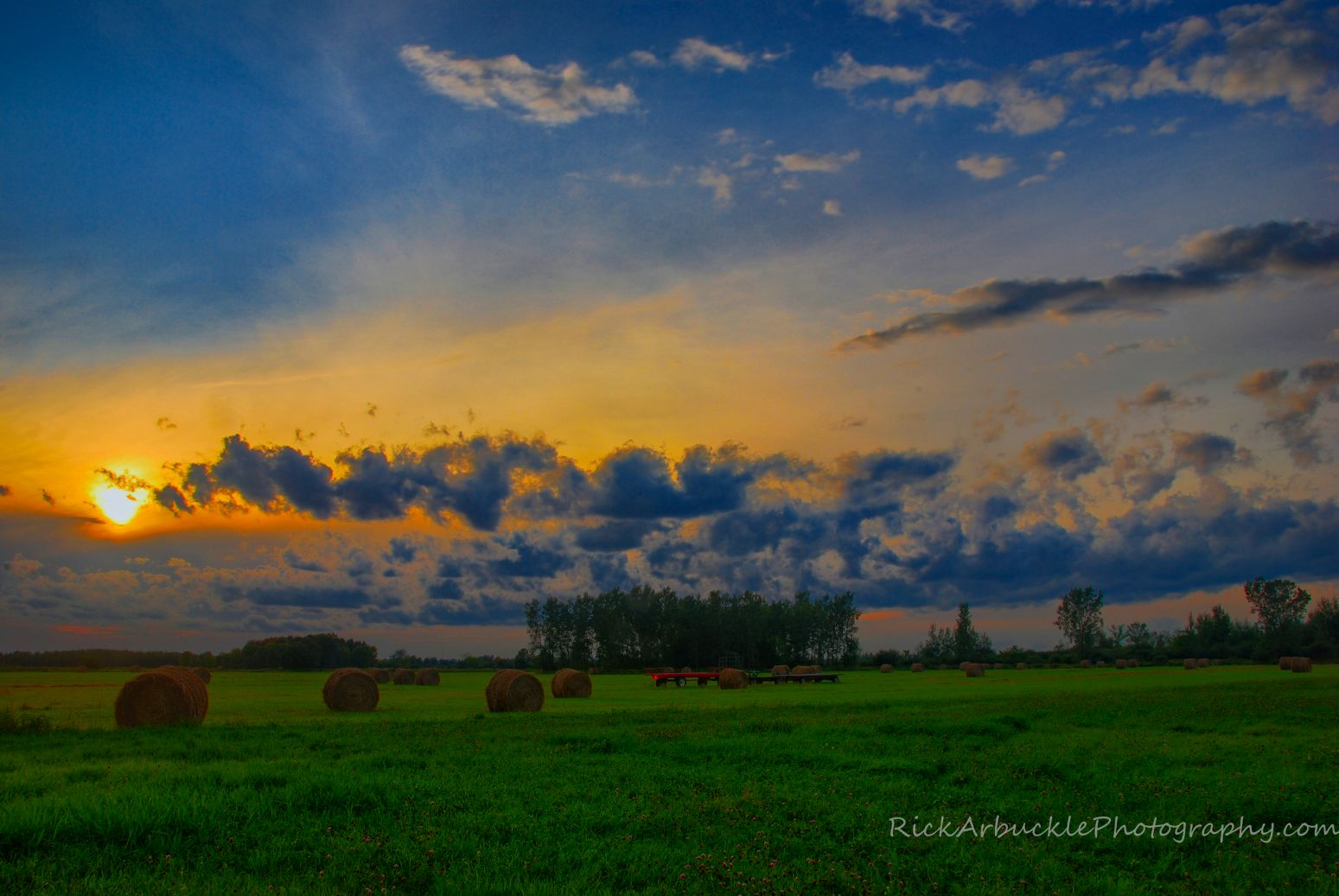 Hay Bales Under The Setting Sun.jpg