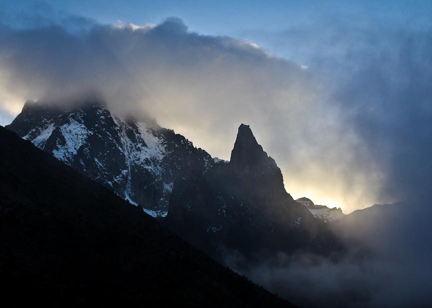 Sunset on Mt Kenya